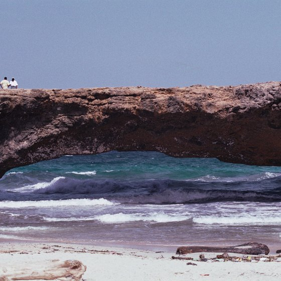 The famous Natural Bridge before its 2005 collapse