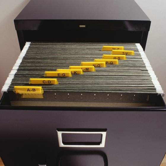 Employee records should be locked in a file cabinet.