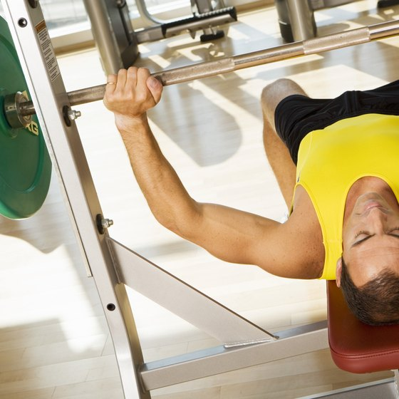Bench presses develop pectoral muscles.