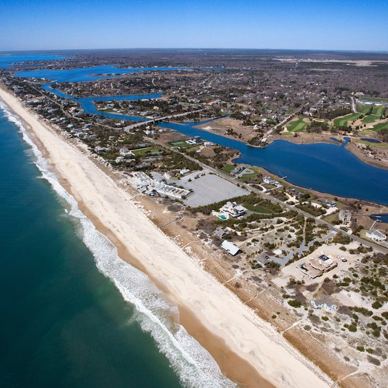 Beaches in The Hamptons line the Atlantic Ocean and Long Island Sound.