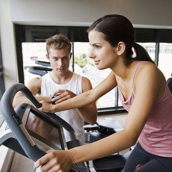Stationary bicycle workouts help you build cardiovascular health.