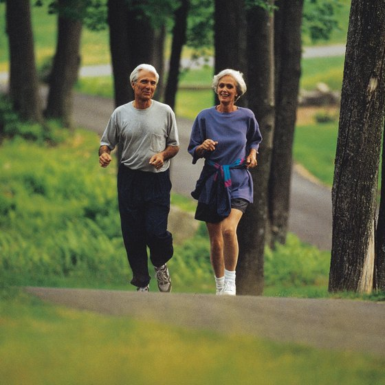 Jogging is one way the over-50 set can raise their metabolisms.
