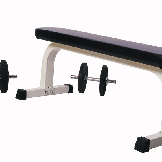 Use a sturdy bench to perform step-ups.