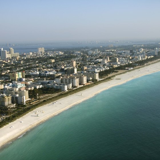 Several metrobus lines connect Miami Beach with the mainland.