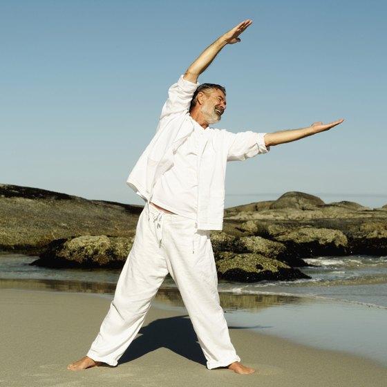 Tai chi helps seniors build balance and strength.
