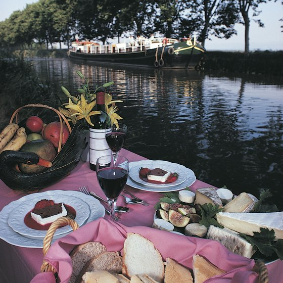 Your boat may stop for a picnic on the shore of Canal du Midi.