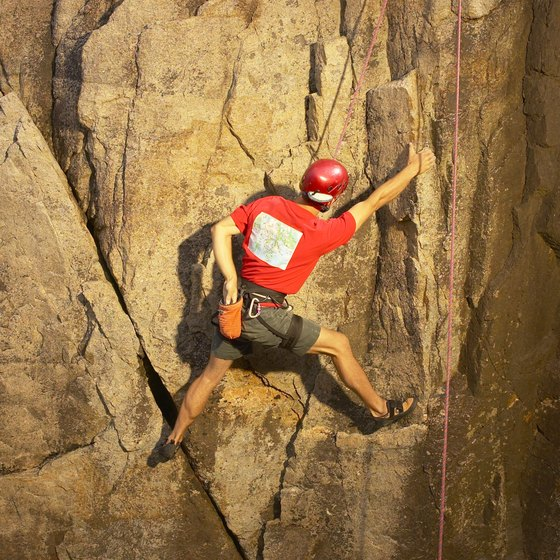 Rock climbing can burn 1,500 calories in less than two hours.