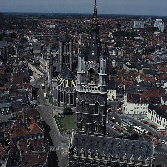 Belgium includes several centuries-old squares lined with towering Gothic buildings.