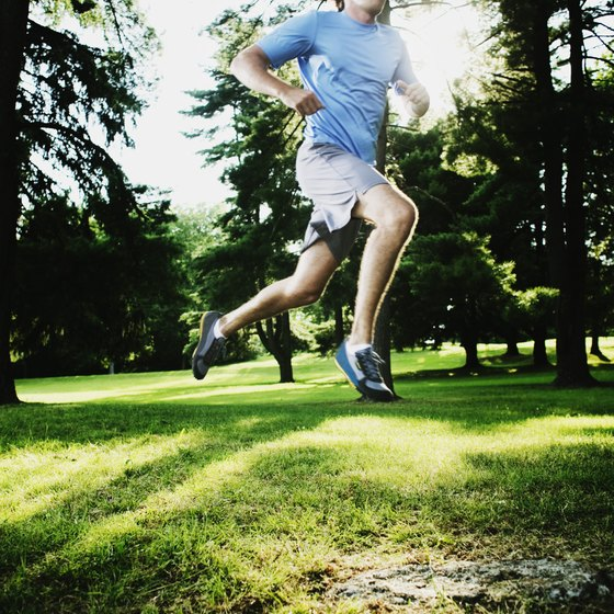 Jogging on a grassy surface helps reduce the impact on your joints.