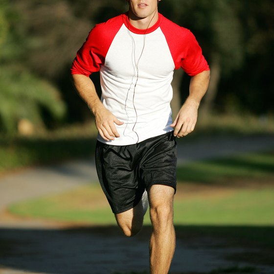 Aim for 30-minute runs, five times a week for healthful runs.