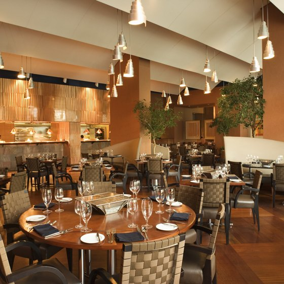 Ambience, menu, quality of food, staff, service and patrons are characteristics of a good restaurant.