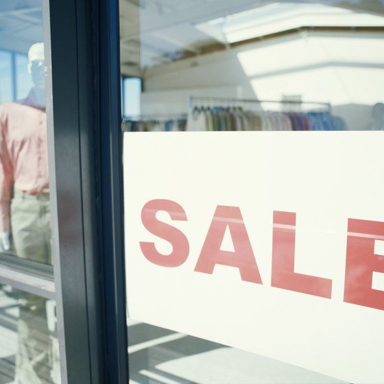 A marketing plan can include sales and in-store promotions.