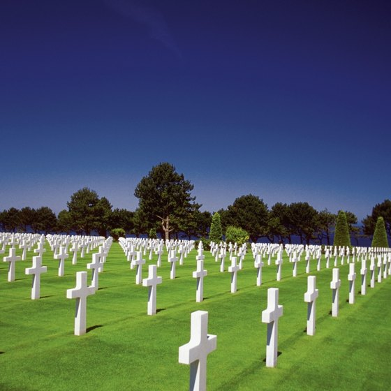 The American Cemetery at Colleville-sur-Mer is near Omaha Beach.
