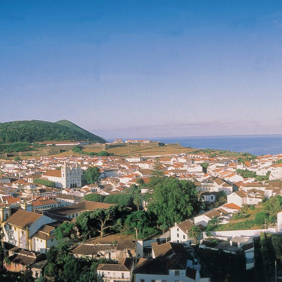 Picturesque towns complete the landscape in the Azores.