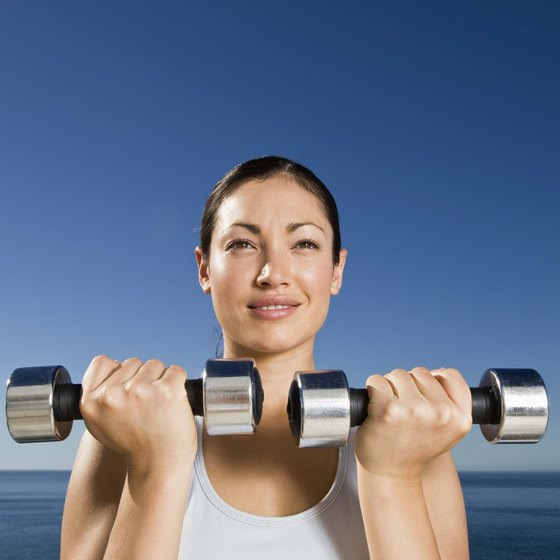 Dumbbell curls and shoulder presses are examples of great upper-body workouts.