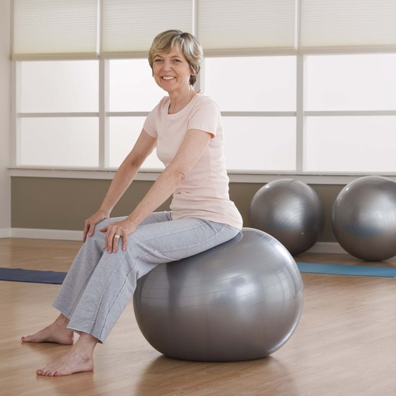Use a core ball to tone and flatten your abdominal area.