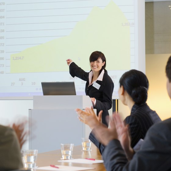 Microsoft PowerPoint makes business presentations easy and professional.
