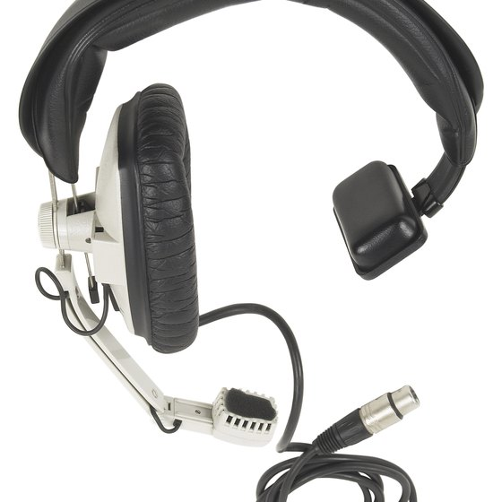 A headset can also have an attached microphone.