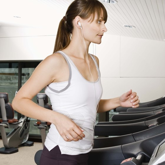Jogging on treadmills can improve your fitness.