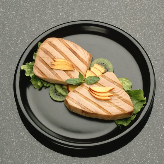 Only use the freshest ahi tuna when serving the fish raw or lightly cooked.