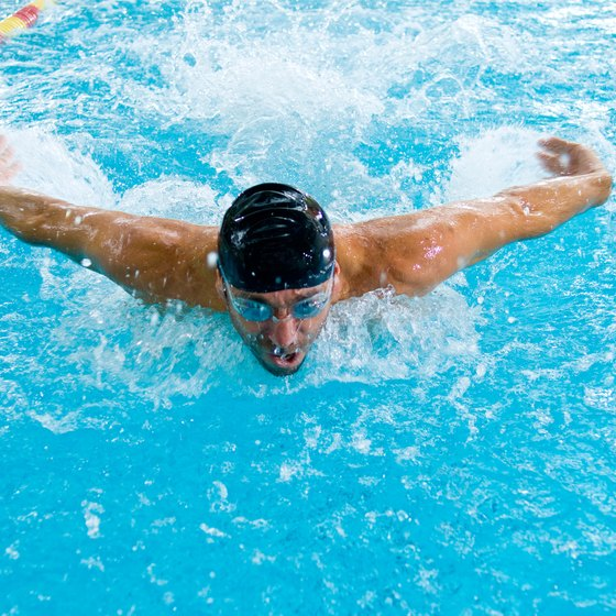 Anaerobic swimming drills improve your fitness levels.
