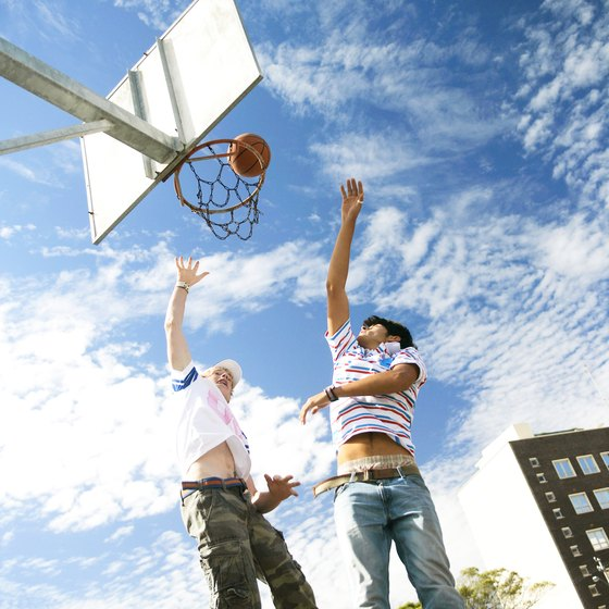 Basketball provides an intense workout to help you burn fat.