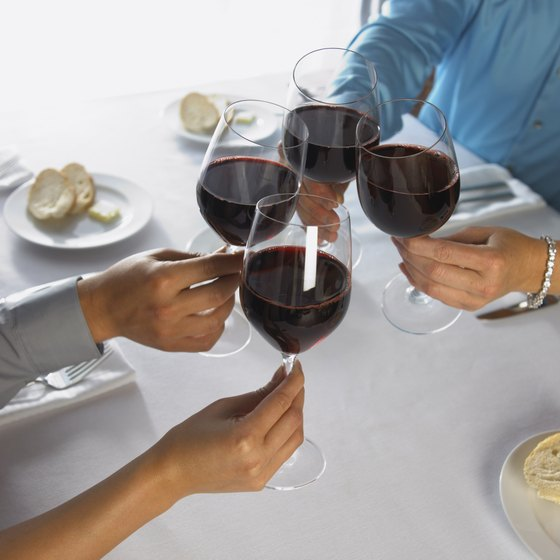 Red wine contains beneficial antioxidants.