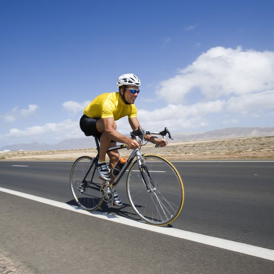 Bicycle workouts can help strengthen your legs to help you excel in races or other sports.