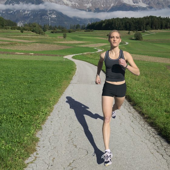 Long distance running can help with weight loss.