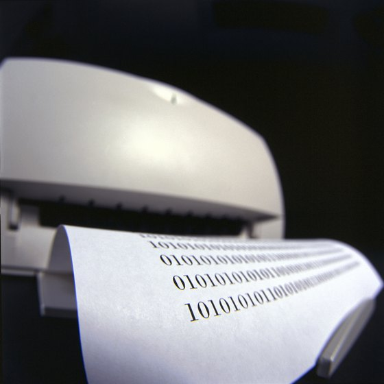 The chip in inkjet printer cartridges informs the printer when ink levels are low.