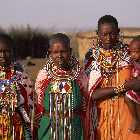 In Kenya, people may still wear traditional clothes.