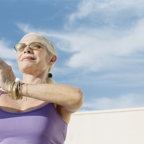 Chair yoga can provide a number of benefits for seniors.