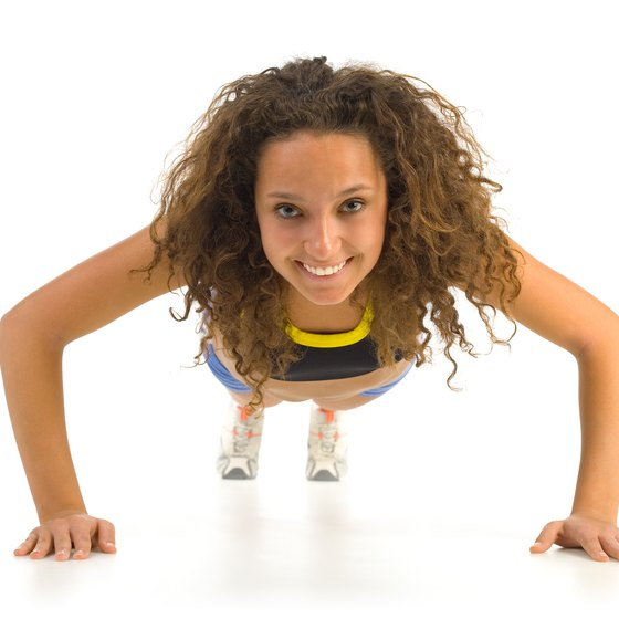 Pushups can help your breasts look slightly firmer.