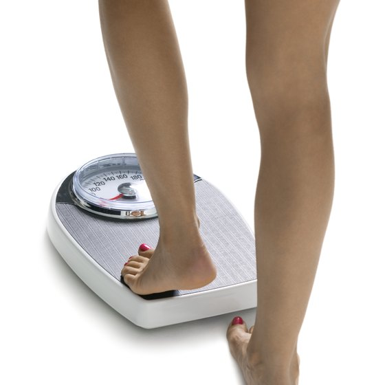 Weighing yourself keeps track of your weight-loss progress.