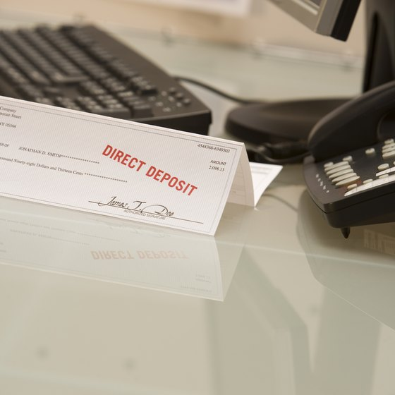Direct deposit simplifies payroll by eliminating paperwork.