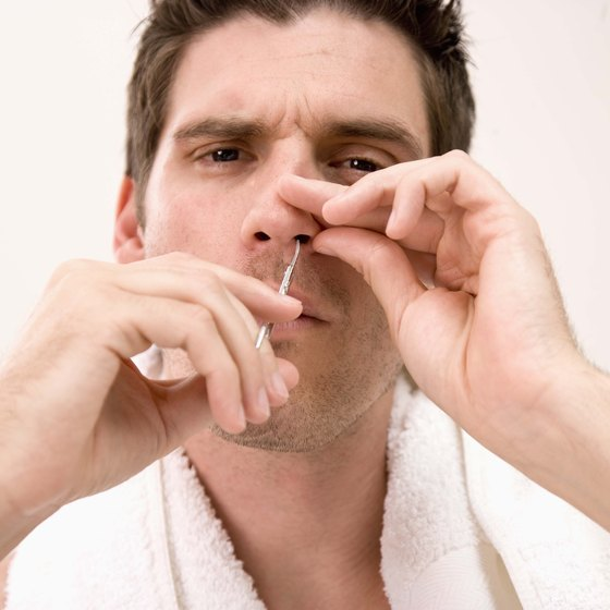 A dab of water soluble lubricant can help keep your nose moist.