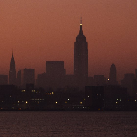 Enjoy a romantic view of Manhattan from across the river in Hoboken.
