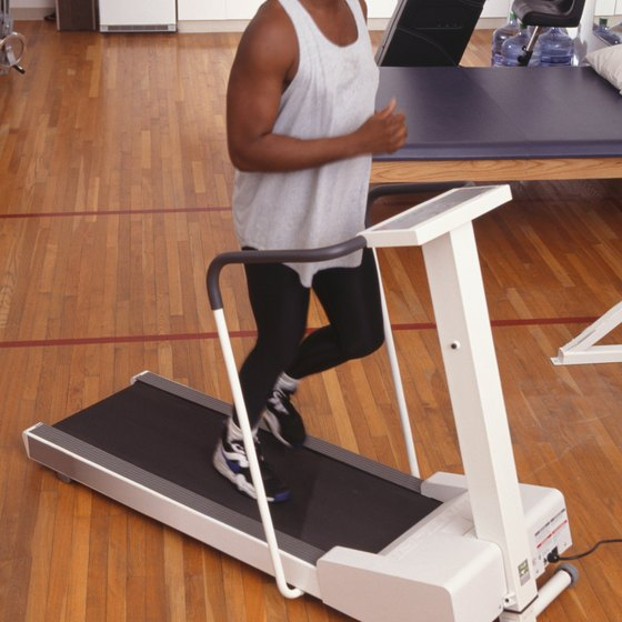 You can use a treadmill to run in place.