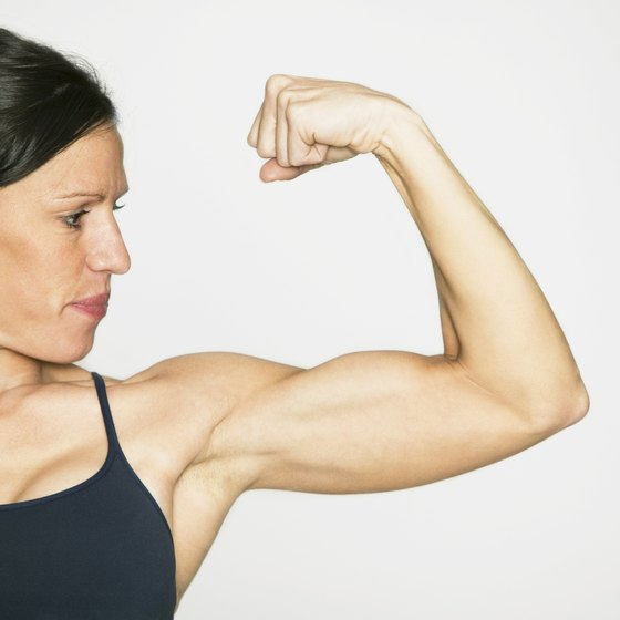 Women can build substantial muscle through targeted, regular training.