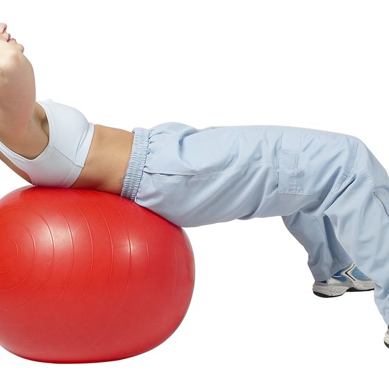Stability balls offer a range of core exercise options.
