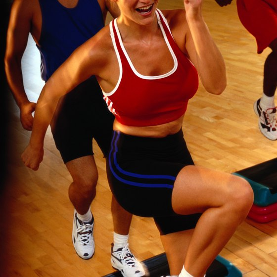 Step aerobics burns more calories than most gym exercises.