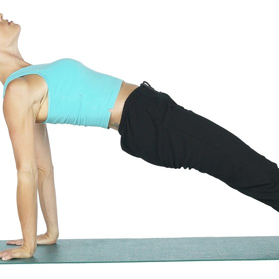 This reverse plank is easier on your elbows if you point your fingers toward your heels.