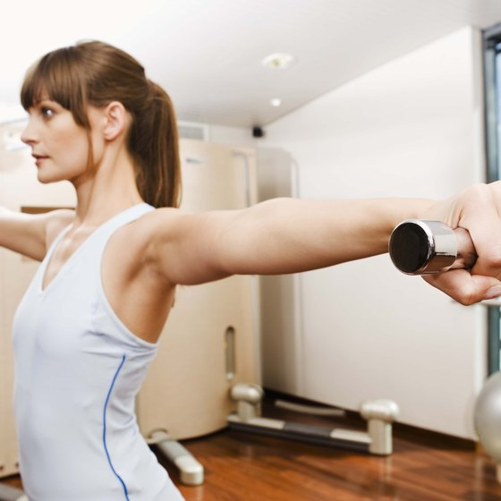 Stretching the shoulders and arms before a workout can prevent injury.