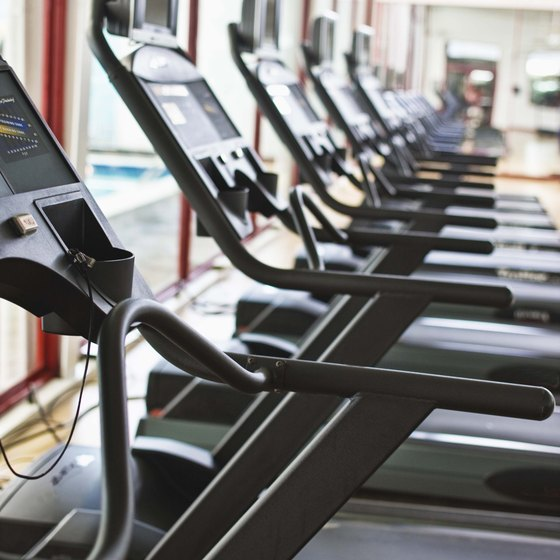 There are many cardio machines to choose from.