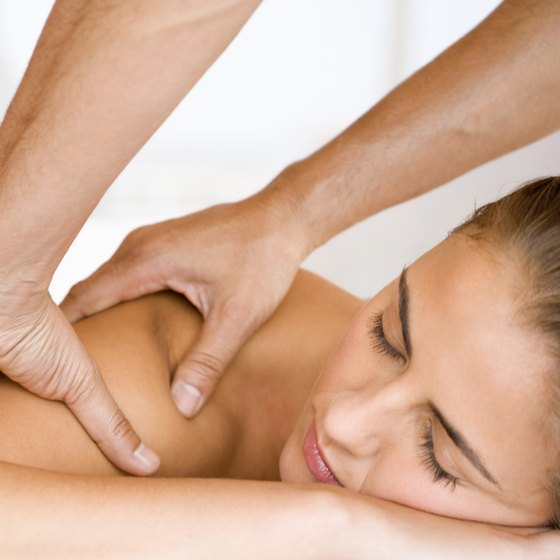 A massage can ease muscle soreness after a workout.