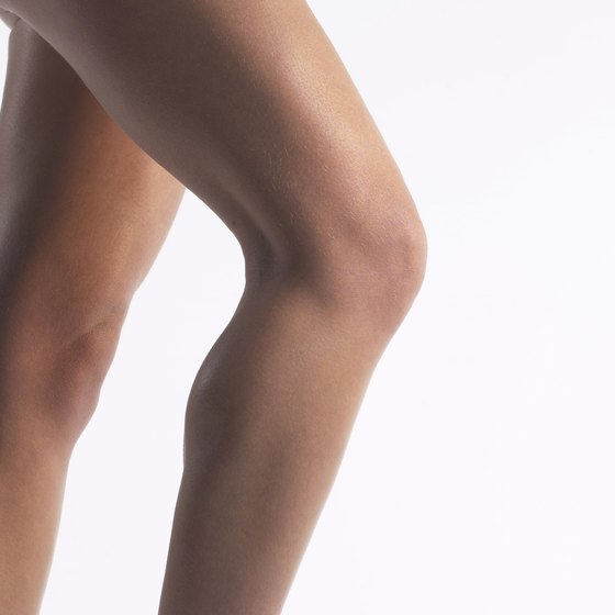 Lose excess fat and build calf muscles with diet and exercise.
