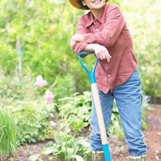 Doing yard work is a high calorie burner.