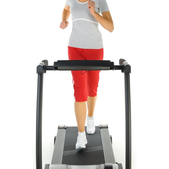 Running on a treadmill can help you to stay fit.