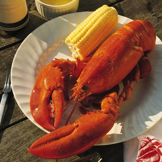 Whole lobster dinners are available at the Charlestown Seafood Festival.