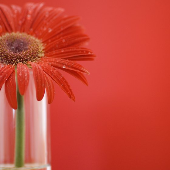 Choose flowers that complement the tone of your business event.